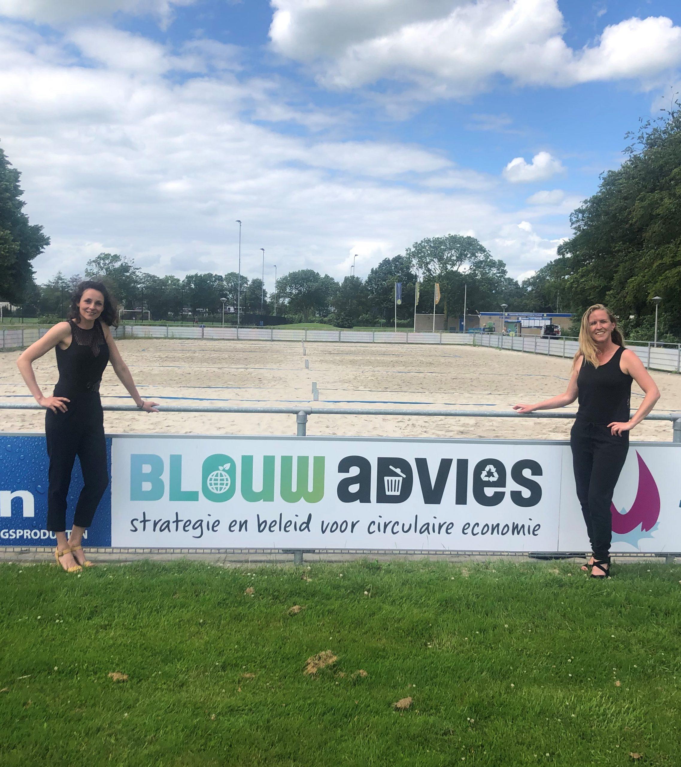 Blouw advies sponsorbord BL